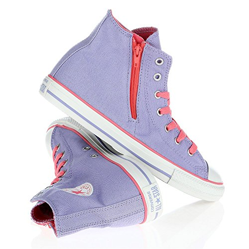 Converse Juniors All Star Side Zip Lava Glow - enfant (garçon ou fille) Rose-Violet