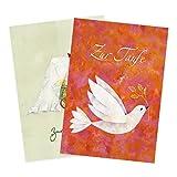 2er Set Glückwunschkarten zur Taufe
