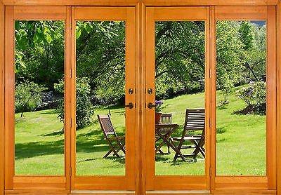 Adesivi finestra trompe l' oeil giardino rif 2544(10dimensioni), 130x90cm