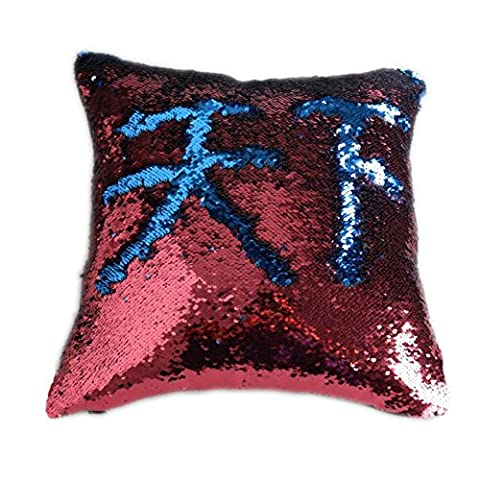 Fengheshun Reversible Sequins Mermaid Pillow Covers 40×40 cm Magical Color