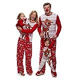 douleway Pigiami Natale Famiglia, Indumenti da Notte Costume Cotone Camicie Manica Lunga + Pantaloni Abbigliamento Felpa Natale Invernale Primaver per Uomini Donne Bambini-Mamma