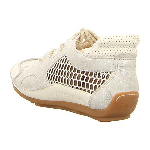 Softwaves 4.69.57 White/Grey, Scarpe Stringate Donna Bianco Bianco Bianco/Grigio