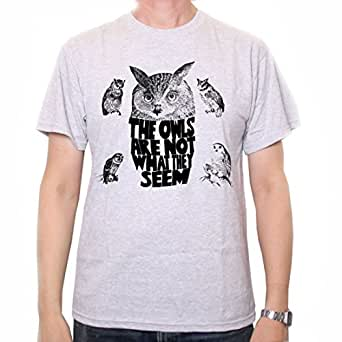 The Owls Are Not What They Seem T Shirt by Old Skool Hooligans inspired by Twin Peaks (Small)
