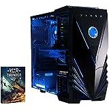 Vibox VBX-PC-00179 Extreme 1 Gaming Desktop-PC (AMD Phenom Quad Core FX-4300, 8GB RAM, 1TB HDD, NVIDIA Geforce GTX 960, kein Betriebssystem) blau
