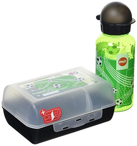 emsa brotdose variabolo Beluga Spielwaren Brotdose Tritan-Fußball mit Trinkflasche, Plastik, Mehrfarbig, 28 x 28 x 18 cm