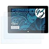 Bruni Schutzfolie für Xoro Pad 10W4 Folie, glasklare Displayschutzfolie (2X)
