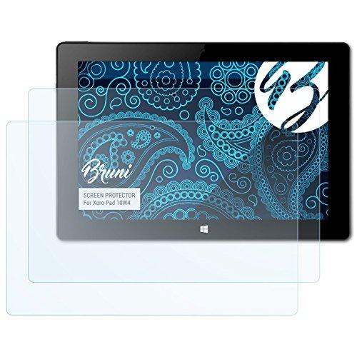 Bruni Schutzfolie kompatibel mit Xoro Pad 10W4 Folie, glasklare Bildschirmschutzfolie (2X)