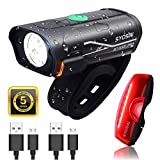 SUPERSTA USB Rechargeable Bike Light Set 600 High lumen Front and Rear Bicycle