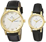 Titan 15802490YL04 Bandhan Analog White Dial Couple Watch (15802490YL04)