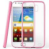 moex Samsung Galaxy S2 | Hülle Slim Transparent Rosa Impact Back-Cover Dünn Schutzhülle Silikon Handy-Hülle für Samsung Galaxy S2 / S2 Plus SII Case TPU Tasche Matt