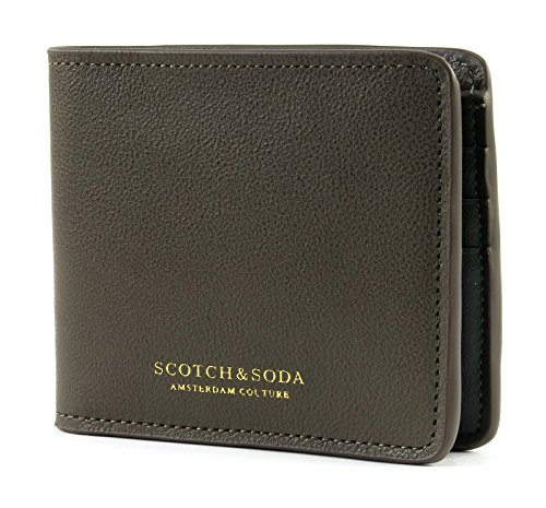 Classic Leather Classic Wallet (SCOTCH & SODA Classic Leather Billfold Wallet Army)