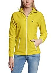 2117 of Sweden Fleecejacke Ladys 3D Storklinten - Chaqueta de esquí para mujer, color amarillo, talla 38