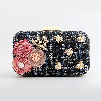pwne L. In West Woman Fashion Luxus High-Grade Gewebte Blumen Abend Tasche Blue