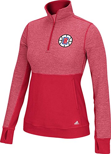 adidas NBA Damen Größere Preferred Logo Climalite Twist 1/2 Zip Pullover, Damen, Power Red Non-Solid, Medium -