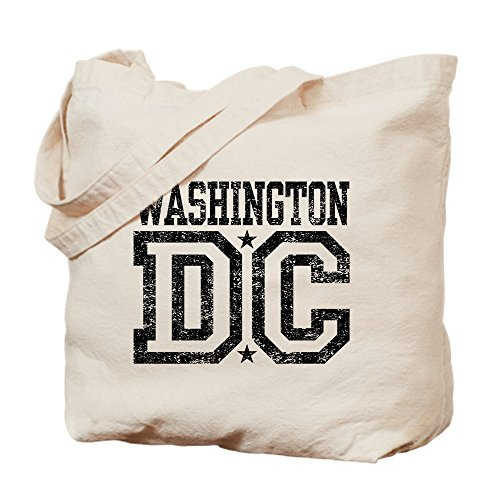 CafePress Umhängetasche Washington, DC, canvas, khaki, M -