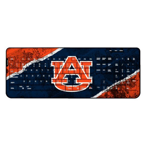 Auburn Tigers Wireless USB Keyboard officially licensed by Auburn University Full Size Low Profile Direct Print Plug & Play by keyscaper