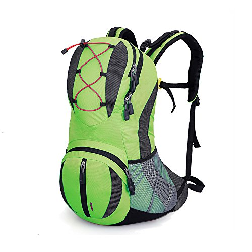 Lily's Locker - 20L Trekking Rucksack (47 cm x 26 cm x 15 cm) Damen und Herren Outdoor-Tasche für die Freizeit, zum Klettern, Radfahren, Wandern, für Radtouren und andere Aktivitäten Grün