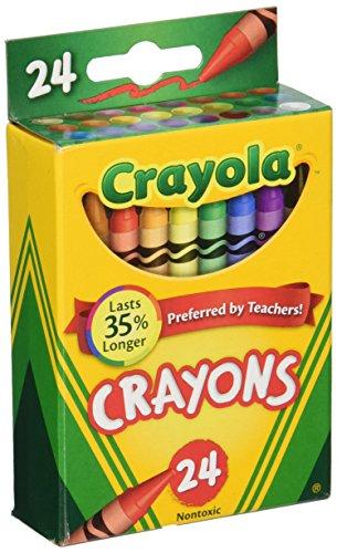 Crayola Wachsmalstift Dose ungiftig Farbe Färben Schulbedarf, 24Zählen, 3Pack (52-0024-3)