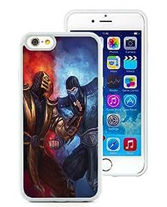 100% brand new mortal kombat scorpion sub zero punch ice fire White iPhone 6 (4.7 Inch) TPU Case