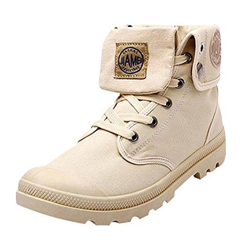 Herren Outdoor High Stiefel Combat Boots Multifunktions-Wüste Wanderschuhe Leinenschuhe Canvasschuhe Sneaker