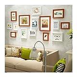 DONG Fotorahmen-hängende Wand-Kombination, Retro hängende Galerie für 15 Fotos Schlafzimmer-Wohnzimmer-Ausgangsdekor 59.4 * 26.4in