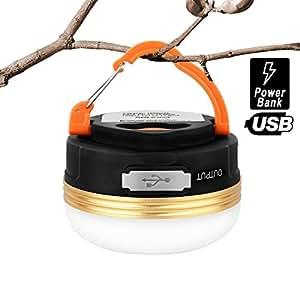 HiHiLL Lampade da Campeggio Ricaricabile Luce Esterna Portatile Resistenza alla Pioggia con 3 Modalità per Escursione e Emergenza (LT-CL1)