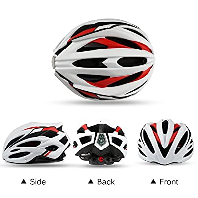 Leadfas Cycle/Bike Helmet, CE Certified Lightweight Bicycle Helmet With Led Safety Light Detachable Visor and Liner for Men & Women Safety Protection by Leadfas