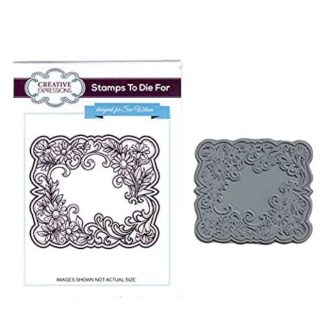 Creative Expressions Pre-Cut Rubber Stamp Sue Wilson UMS621 Floral Toile by Creative Expressions