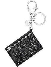 Swarovski Mujer de cierre Glam Rock Bolsos de Charm Acero Inoxidable rodio piel Cristal Negro–5270965