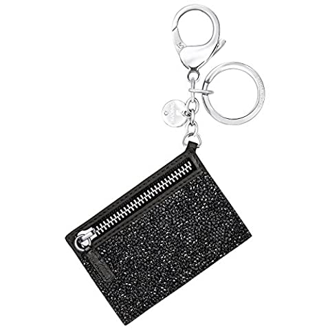 Swarovski Womens Glam Rock Handbag Buckle Charms Accessories Crystal Black Rhodium-Plated Stainless Steel