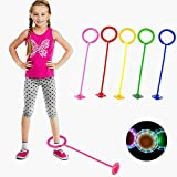H.Yue Sports Skip Ball Flashing Jumping Ring Kids Ankle Skip Jump Ropes Sports Swing Ball Great Kids Fitness Game for Boys an