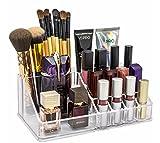 TiedRibbons® Acrylic Cosmetic Organizer Make Up Case Vanity Box Lipstic Holder Storage