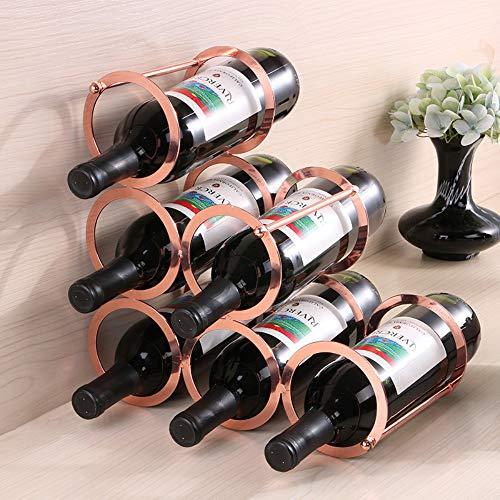 Jackeylove Creative Wine Rack Stack Stack Free-Standing Metal Wine Rack, 30 * 17 * 30Cm-Eisenfinish (6-Bottle Capacity) -