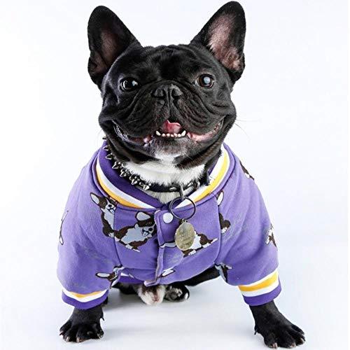 Kostüm Für Möpse - GOUSHENG-Costumes Haustiere Kleidung Kleider Drucken Hundebekleidung Winter Französische Bulldogge Hundebekleidung Für Kleine Hunde Warmes Outfit Möpse Kleidung Für Chihuahua Kleidung Roupa Haustier K
