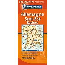 Carte Régional Allemagne Sud-Est, Bavire