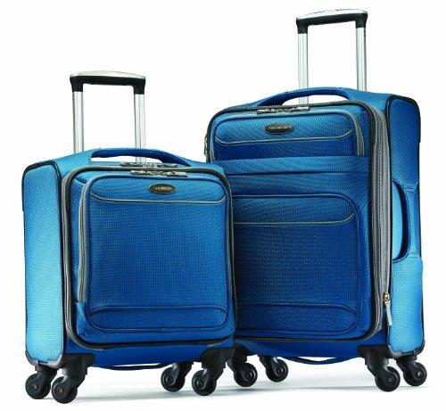 samsonite luggage lightweight 2 piece set blue dream silver smoke one size shopstak. Black Bedroom Furniture Sets. Home Design Ideas