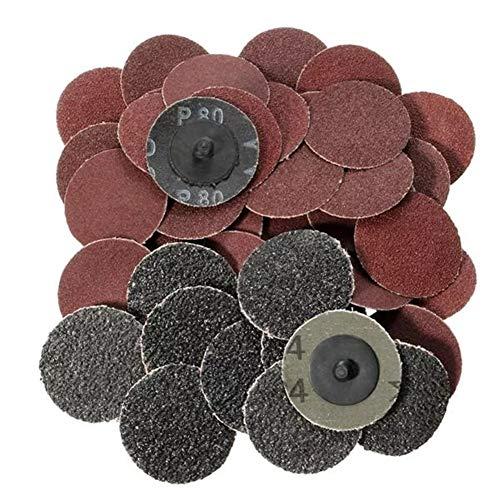 Abrasives 40pcs 2 Zoll 24 60 80 120 Grit Roll Lock Schleifscheiben -
