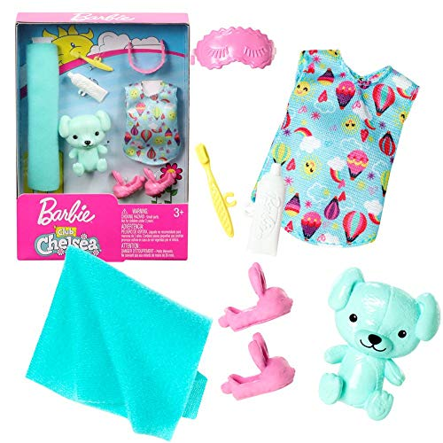 Mattel Set Nachtruhe   für Chelsea Barbie FXN70   Trend Mode Puppen-Kleidung