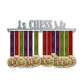 VICTORY HANGERS Soportes Para Medallas CHESS Gancho Exhibidor de Medallas | Medallero | Elegante Expositor Para Medallas * 100% Acero Inoxidable | Percha Para Medallas | Para Los Campeones !