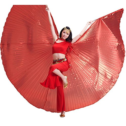 e Ägyptische Ägypten Belly Dance Flügel Isis Flügel Kostüm Geschenk für Big Party Weihnachten, rot ()
