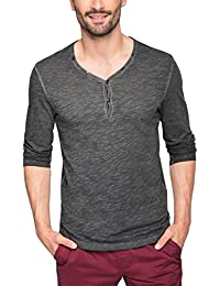 edc by Esprit 076cc2k022, T-Shirt à Manches Longues Homme