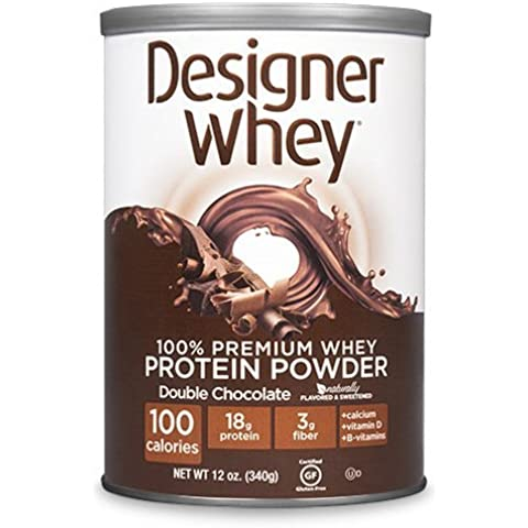 New - Designer Whey Protein Powder Double Chocolate - 12.7 oz by Protein (12,7 Ounce Chocolate)