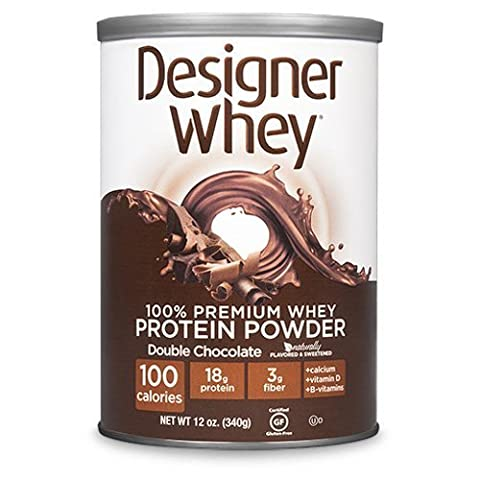 Designer Whey Protein Powder Double Chocolate - 12.7 oz by Designer (12,7 Ounce Chocolate)