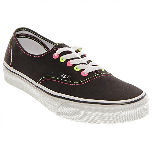 Vans Authentic VNJV5KS, Sneaker donna (Black/Pink/Yellow)