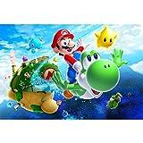 Jigsaw Puzzle Poster per Giochi Nintendo, Puzzle di Legno, Super Mario Galaxy Wii, Taglio Perfetto per Il Legno di Tiglio, 300/500/1000 Pezzi Giocattoli per Fotografia in Miniatura Gioco per Adulti e