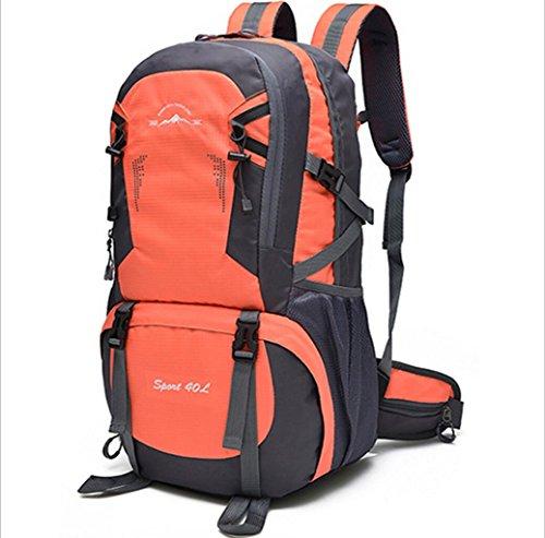 LQABW Outdoor-Schulter-Climbing-Reisen Männer Und Frauen Sport Und Freizeit Paket-wasserdicht Computer-Studenten-Tasche Orange