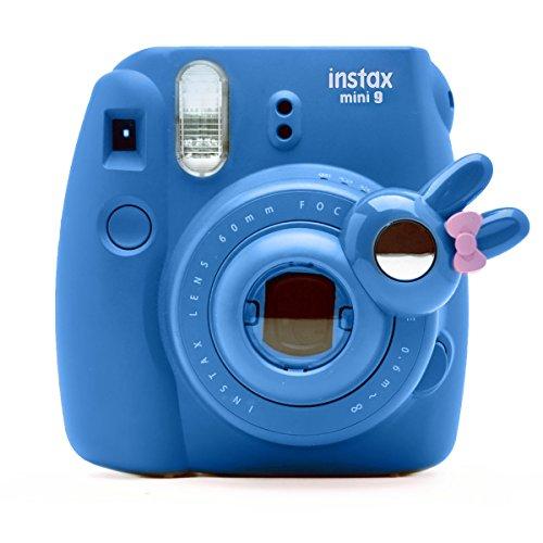 Süßes Häschen Selfie und die Nahaufnahme Lens für Fujifilm Instax Mini8 Mini9 Hellokitty Instant Kamera(Cobalt Blau) Hello Kitty Kamera