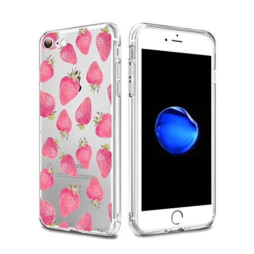 iPhone 7 Custodia coniglio Elefante fiore fragola Animale cover transparente Silicone Case Pacyer® TPU Protettivo Skin Shell Per apple iPhone 7 4.7 cover Fragola
