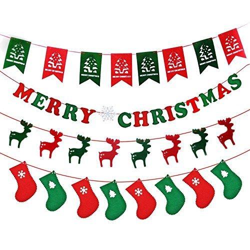MAIYU Classic Weihnachten Strümpfe, 45,7cm Cute Santa Claus Schneemann Elk Toys Strümpfe Candy Socken Geschenke Tasche Weihnachtsbaum hängende Dekoration Xmas Tree + Letters + Elk + Socks