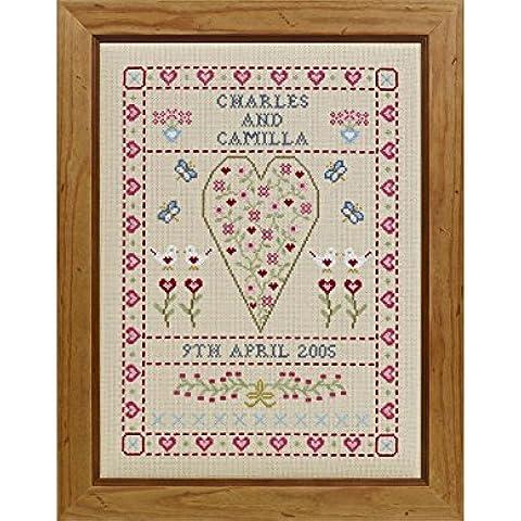 SWAG & Corazón Kit de punto de cruz, diseño de boda
